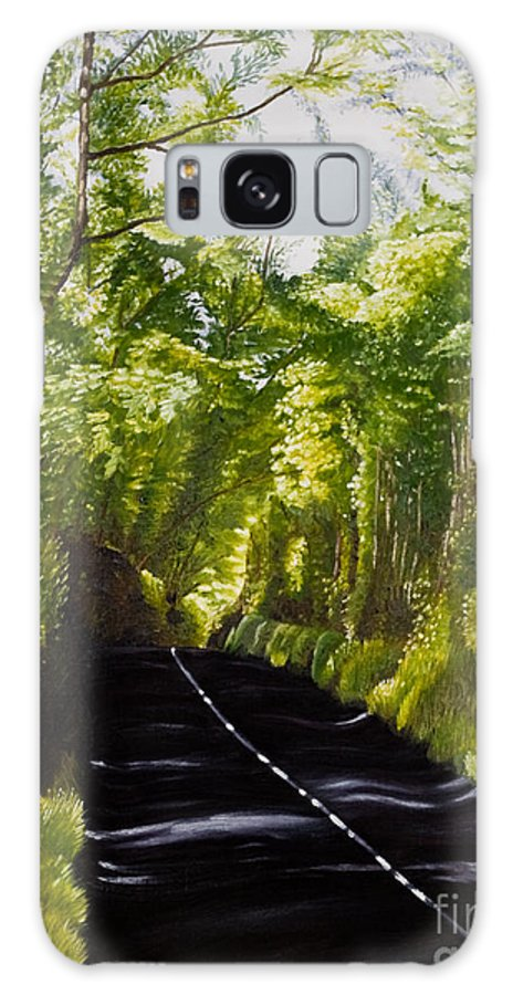 Landscape Galaxy S8 Case featuring the painting The Road Through Glenastar by Pauline Sharp