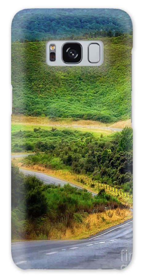 New Zealand Galaxy S8 Case featuring the photograph The Road To Milford Sound by Doug Sturgess