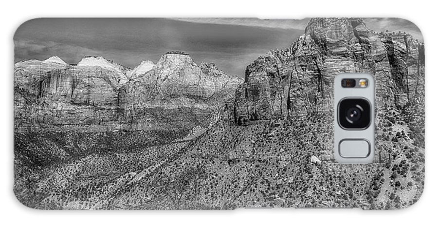 National Park Galaxy S8 Case featuring the photograph The Road To The Tunnel Bw by Mitch Johanson