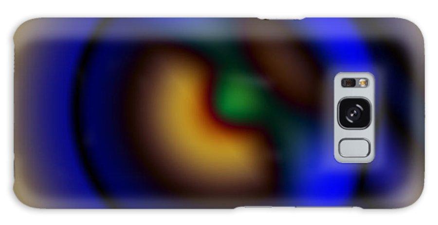 Digital Art Galaxy Case featuring the digital art The Robot Eye by Chad Davis
