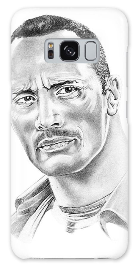 Pencil Galaxy Case featuring the drawing The Roc  Dwain Johnson by Murphy Elliott