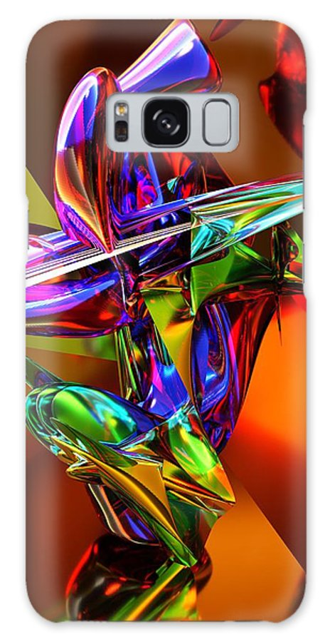 Guitarist Galaxy S8 Case featuring the digital art The Rock Guitarist #1 by Chas Hauxby