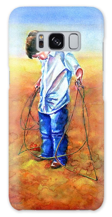 Child Galaxy Case featuring the painting The Roping Lesson by Shannon Grissom