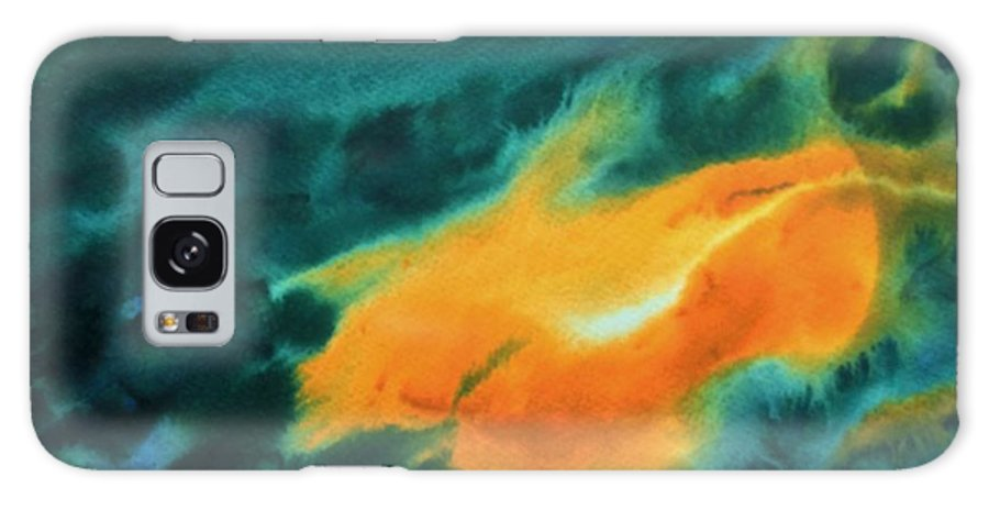 Orange Galaxy S8 Case featuring the painting The Royal Fire by Harmeet Singh
