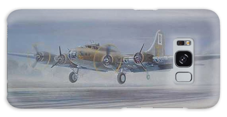 The Only Survivor Of The 100th Bomb Group On The October 10 Galaxy Case featuring the painting The Royal Flush comes home by Scott Robertson