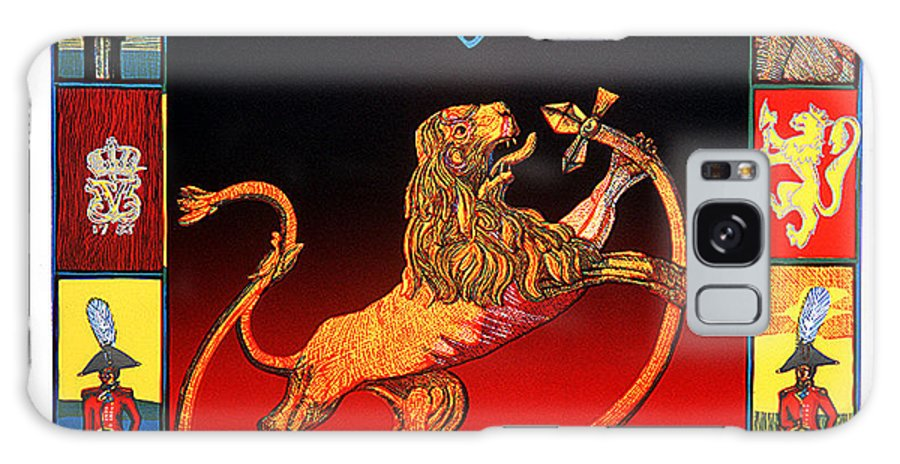 Historic Galaxy Case featuring the mixed media The Royal Norwegian Lion by Jarle Rosseland