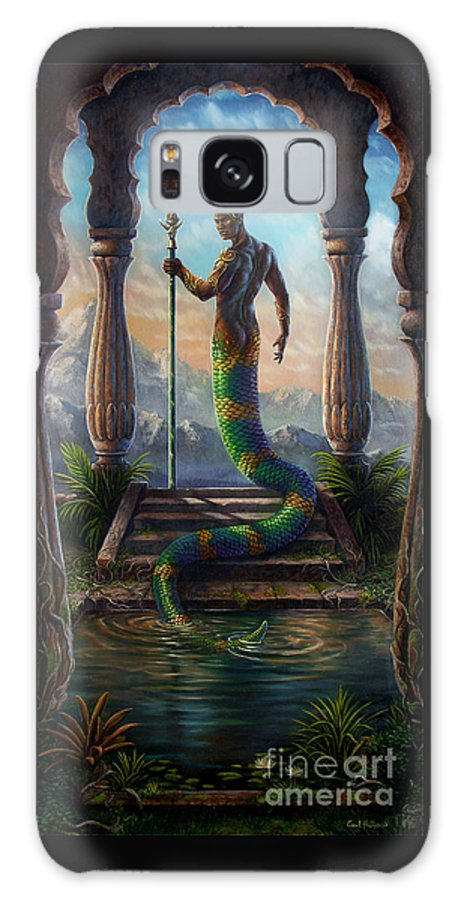 Fantasy Galaxy S8 Case featuring the painting The Sacred Pool by Carol Phillips