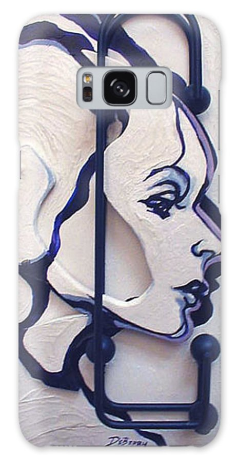 Construction Art Galaxy Case featuring the mixed media The School Teacher by Lloyd DeBerry