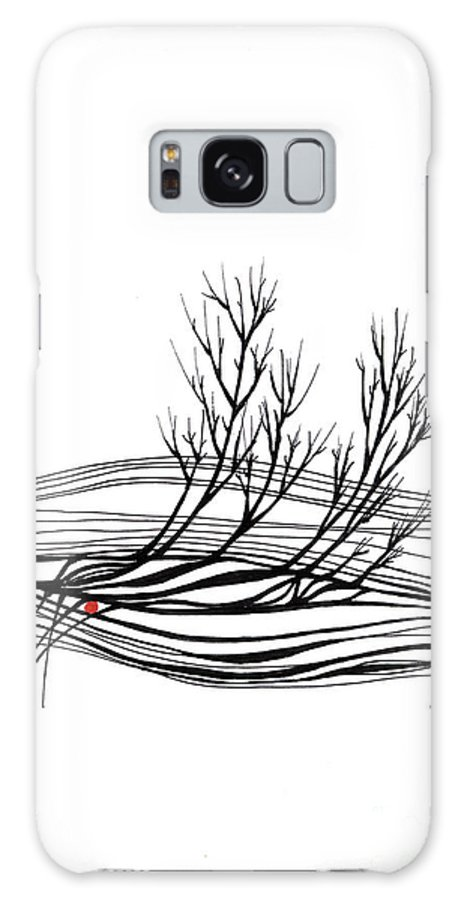 Trees Galaxy S8 Case featuring the drawing The Seed by Aniko Hencz