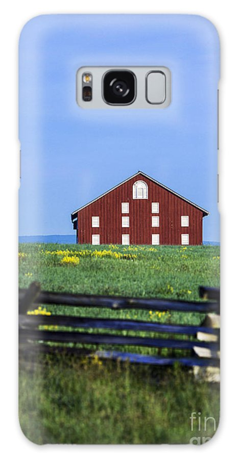 Adams County Galaxy S8 Case featuring the photograph The Sherfy Farm At Gettysburg by John Greim