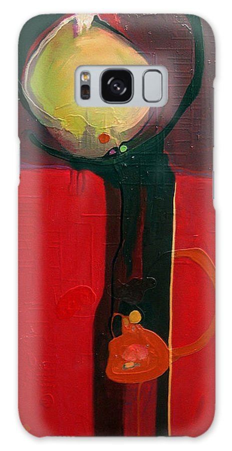 Abstract Galaxy Case featuring the painting The Skinny by Marlene Burns