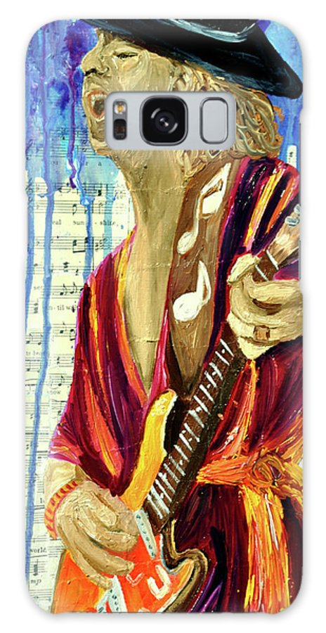 Guitar Player Galaxy S8 Case featuring the painting The Sky Is Crying by Michael Lee