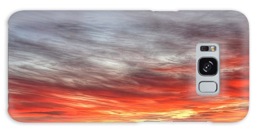 Prairie Galaxy S8 Case featuring the photograph The Sky Is Smoking Hot In Widescape by James Anderson