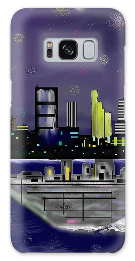 Cityscapes Galaxy S8 Case featuring the digital art The Sky Is The Limit by Abel Padilla