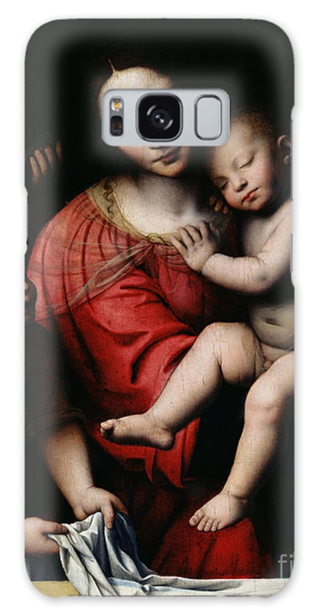 The Sleeping Christ Galaxy S8 Case featuring the painting The Sleeping Christ by Bernardino Luini