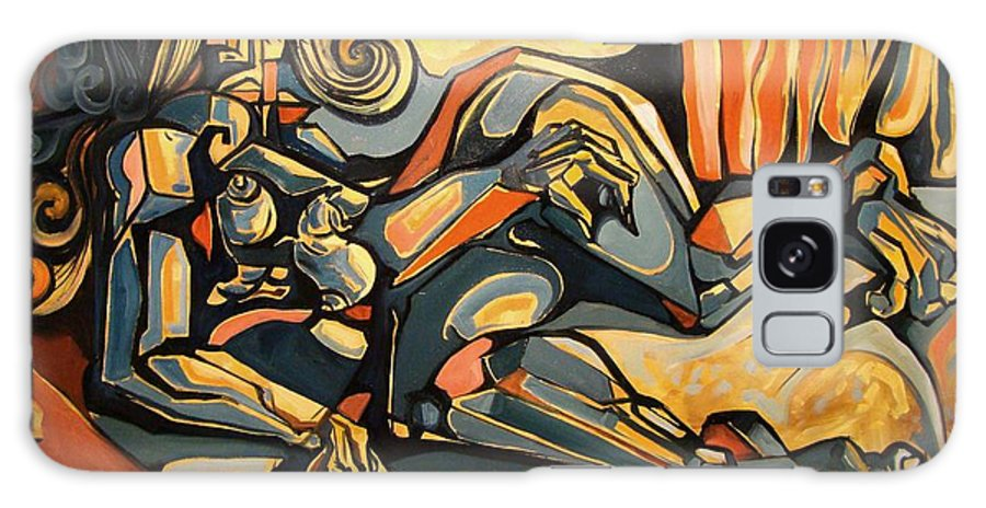 Surrealism Galaxy S8 Case featuring the painting The Sleeping Muse by Darwin Leon