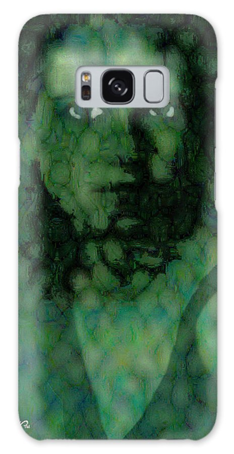 Bizarre Galaxy Case featuring the digital art The Snake Lady by Seth Weaver
