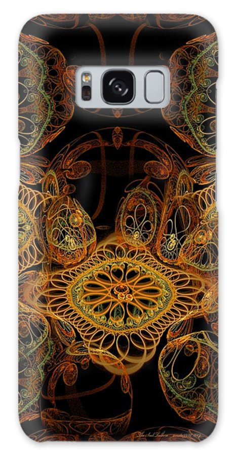 Fractal Galaxy S8 Case featuring the digital art The Soul Talkers by Gayle Odsather