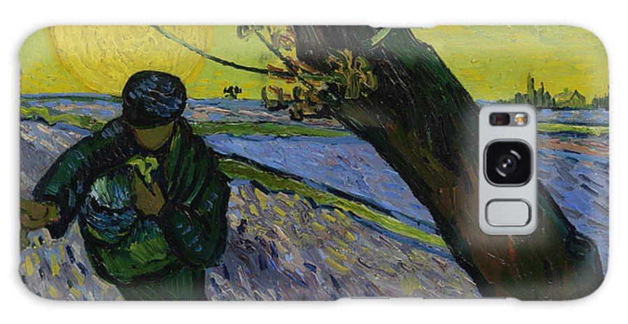 Van Gogh Galaxy Case featuring the painting The Sower 10 by Vincent van Gogh