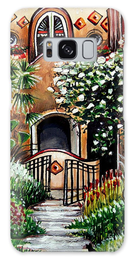 Gardens Galaxy S8 Case featuring the painting The Spanish Gardens by Elizabeth Robinette Tyndall