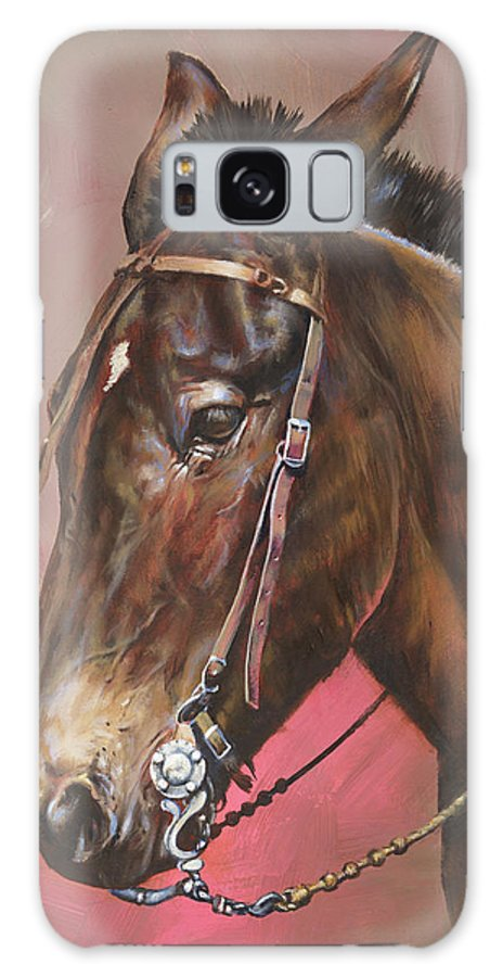Mules Galaxy S8 Case featuring the painting The Spanish Mule by Mia DeLode