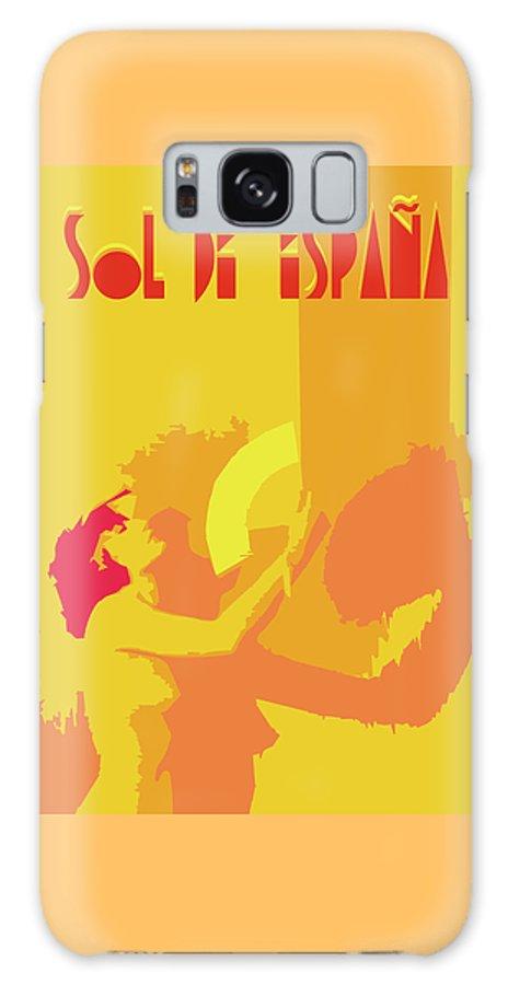 Spanish Galaxy S8 Case featuring the digital art The Spanish Sun by Joaquin Abella