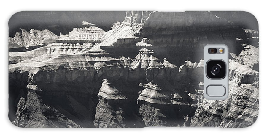 Grand Canyon Galaxy S8 Case featuring the photograph The Spectacular Grand Canyon Bw by Julie Niemela