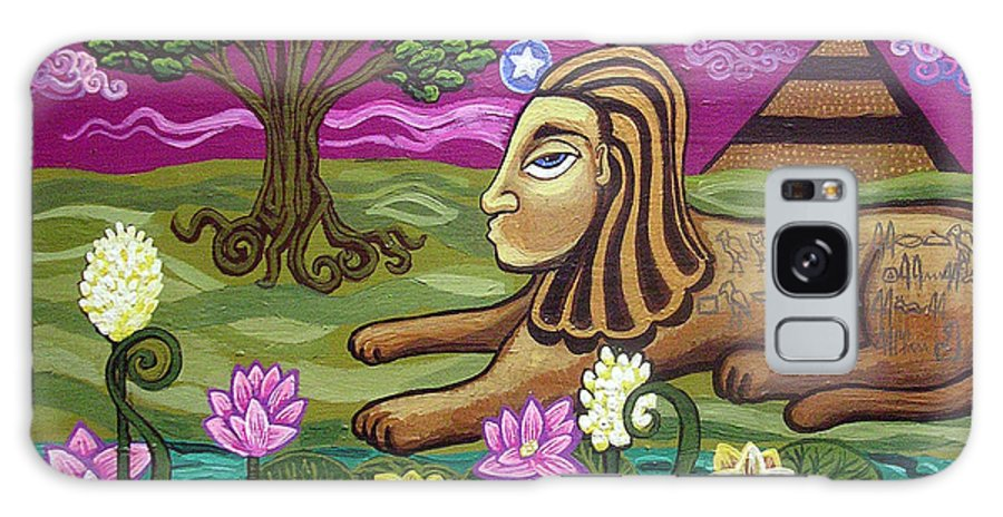 Egypt Galaxy Case featuring the painting The Sphinx by Genevieve Esson