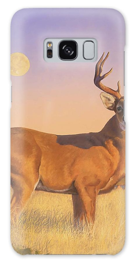 Deer Galaxy S8 Case featuring the painting The Stag by Howard Dubois