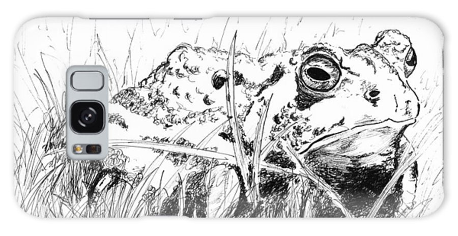 Toad Galaxy Case featuring the drawing The Stalwart Old Toad by Andrew Gillette