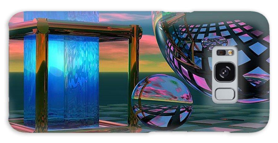 Bryce Galaxy S8 Case featuring the digital art The Station by Sandra Bauser Digital Art