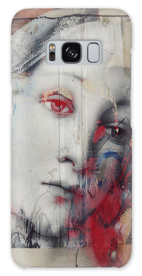 Old Masters Painting Galaxy S8 Case featuring the mixed media The Story Inyour Eyes by Paul Lovering