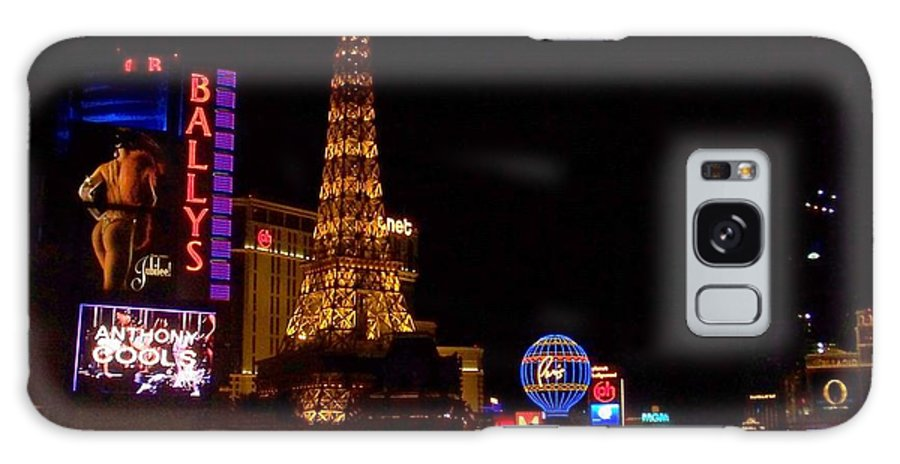Vegas Galaxy Case featuring the photograph The Strip At Night 1 by Anita Burgermeister