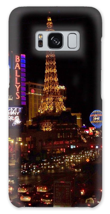 Vegas Galaxy Case featuring the photograph The Strip At Night 2 by Anita Burgermeister
