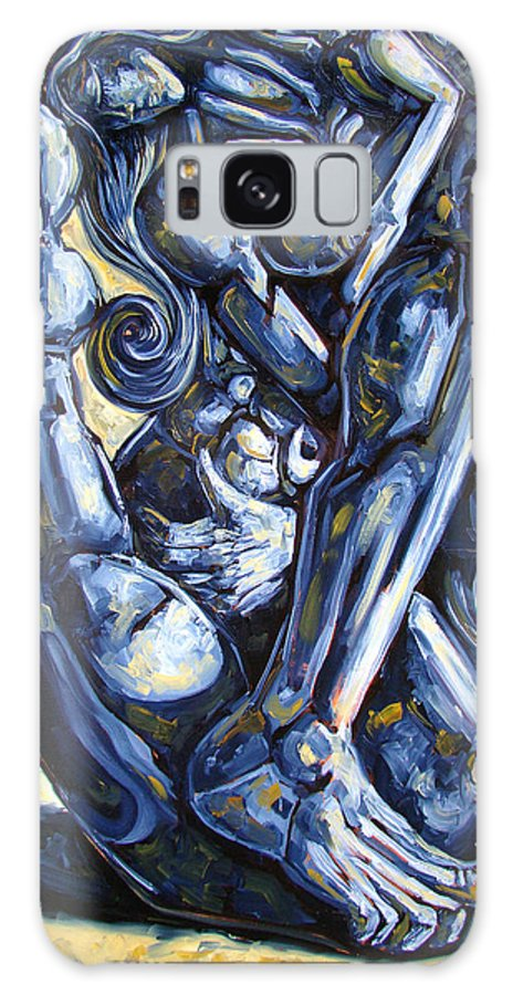 Nude Galaxy S8 Case featuring the painting The Struggle by Darwin Leon