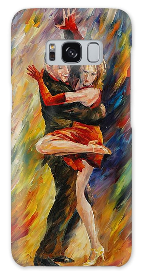 Dance Galaxy Case featuring the painting The Sublime Tango by Leonid Afremov