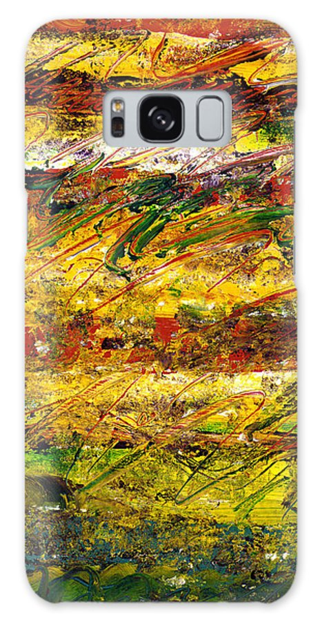 Abstract Galaxy S8 Case featuring the painting The Sun Rose One Strip At A Time 1 by Wayne Potrafka