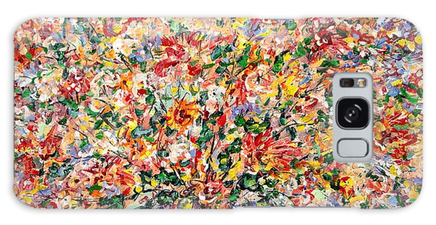 Flowers Galaxy Case featuring the painting The Sunlight Flowers by Leonard Holland