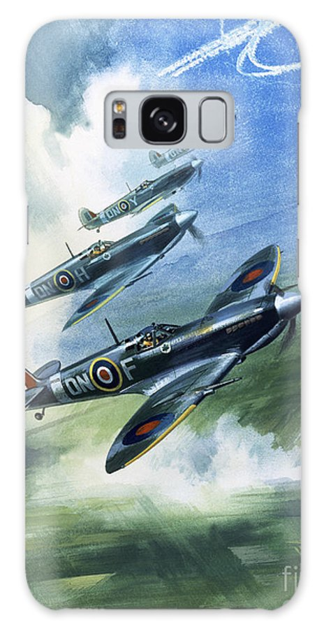 The Galaxy Case featuring the painting The Supermarine Spitfire Mark Ix by Wilfred Hardy