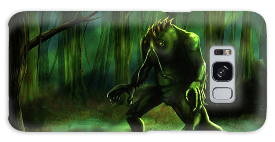 Swamp Monster Galaxy S8 Case featuring the digital art The Swamp by Virginia Palomeque