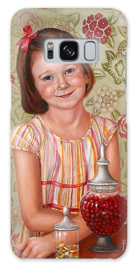Children Portrait Galaxy S8 Case featuring the painting The Sweet Sneak by Portraits By NC