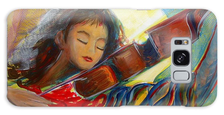 Violin Galaxy Case featuring the painting The Sweetest Sounds by Regina Walsh