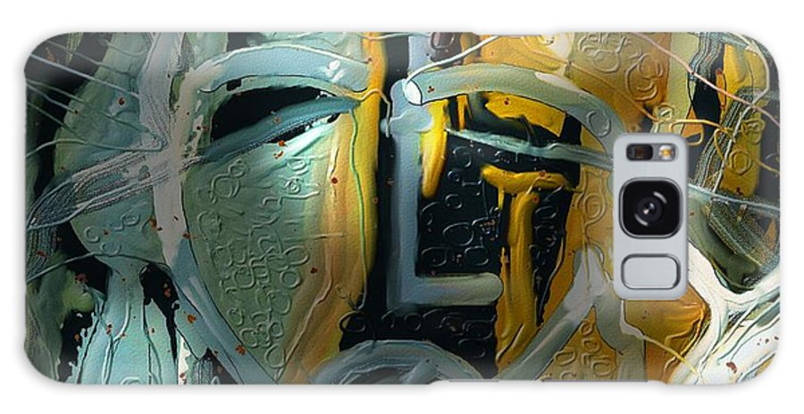 Abstract Galaxy S8 Case featuring the painting The Synaptic Gap by Bob Salo
