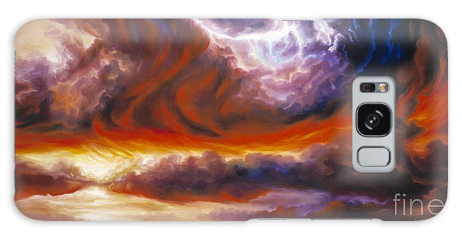 Tempest Galaxy Case featuring the painting The Tempest by James Christopher Hill