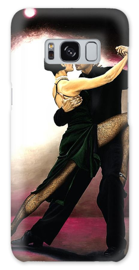 Tango Galaxy Case featuring the painting The Temptation Of Tango by Richard Young