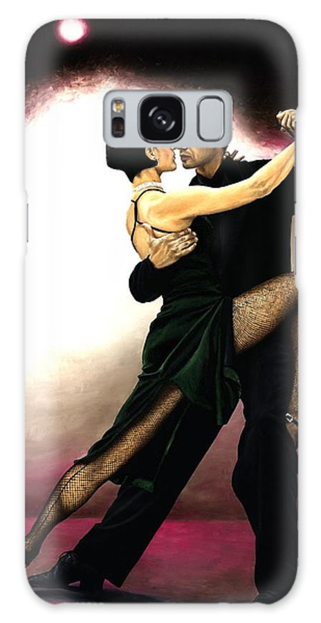 Tango Galaxy S8 Case featuring the painting The Temptation Of Tango by Richard Young