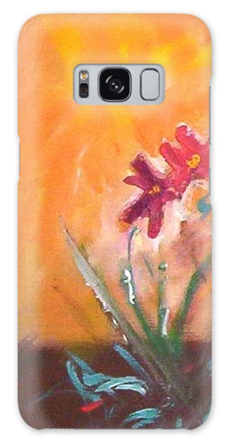 Flowers Galaxy S8 Case featuring the painting The Three Daisies by Winsome Gunning