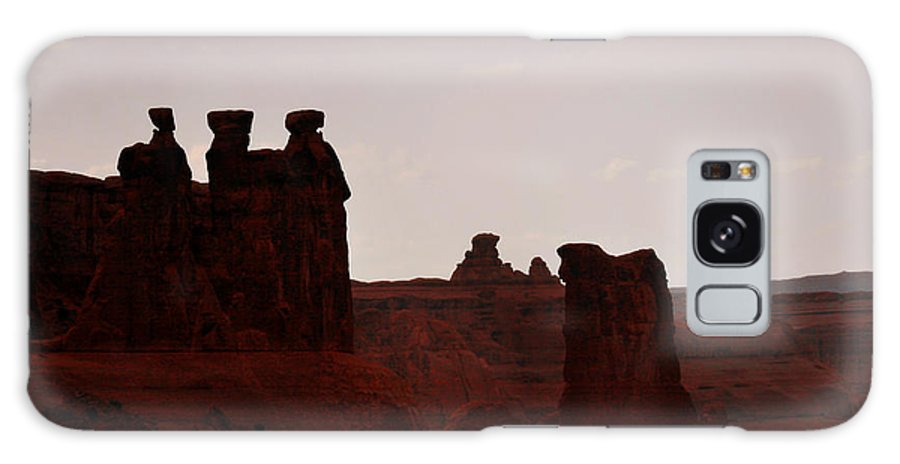 Landscape Galaxy S8 Case featuring the photograph The Three Gossips Arches National Park Utah by Christine Till
