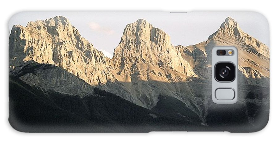 Rocky Mountains Galaxy S8 Case featuring the photograph The Three Sisters Of The Rockies by Tiffany Vest
