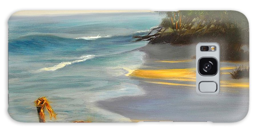 Landscape Galaxy Case featuring the painting The Tide Is Blocking The Way by Greg Neal
